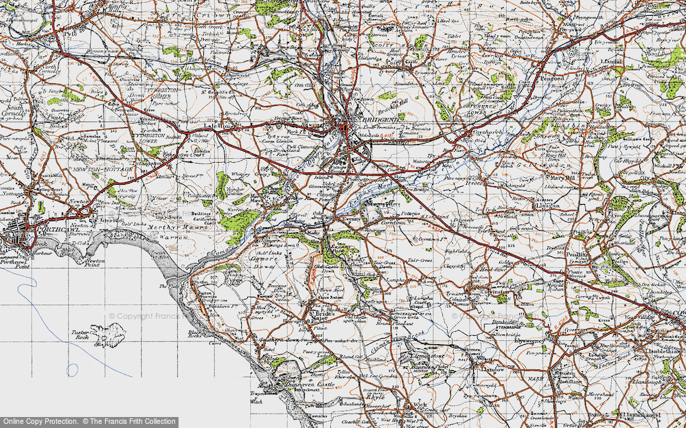 Old Map of Ewenny, 1947 in 1947
