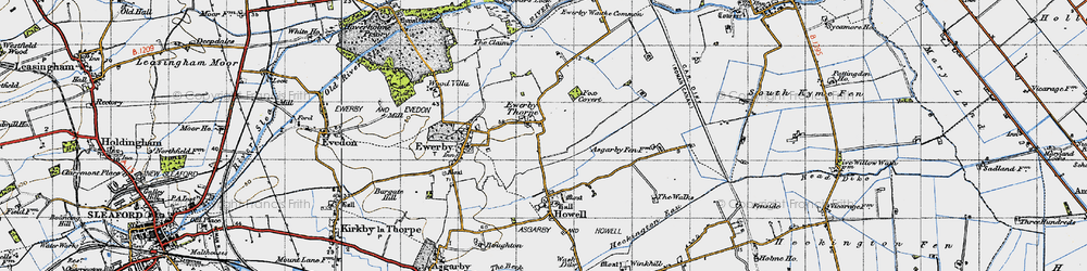 Old map of Westmorelands in 1946