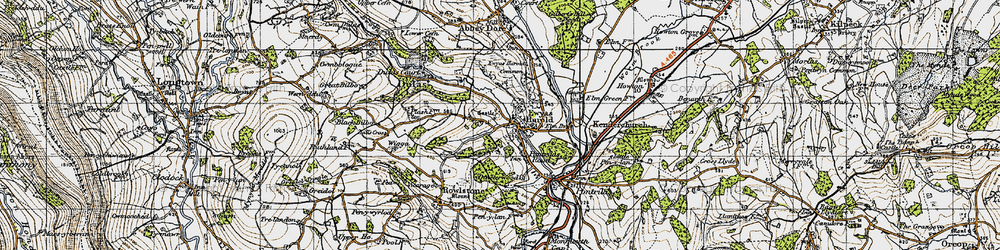 Old map of Ewyas Harold in 1947