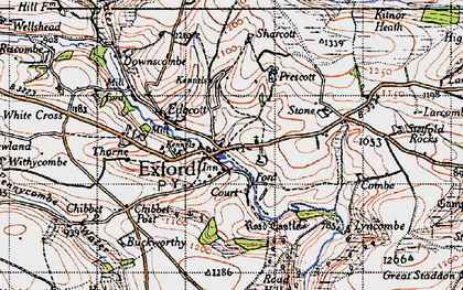 Old map of Exford in 1946