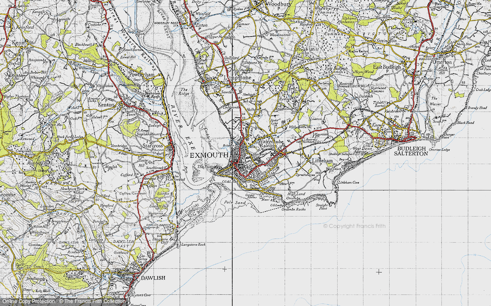 Old Map of Exmouth, 1946 in 1946