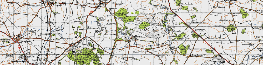Old map of Westland Wood in 1946
