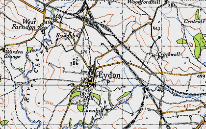 Old map of Tile Barn in 1946