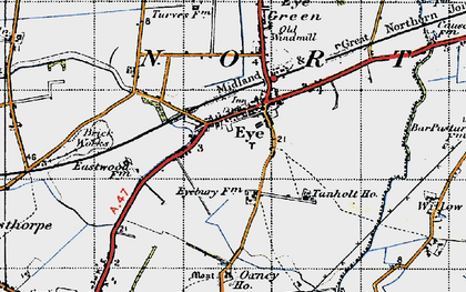 Old map of Willow Hall in 1946
