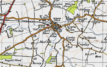 Old map of Eye in 1946