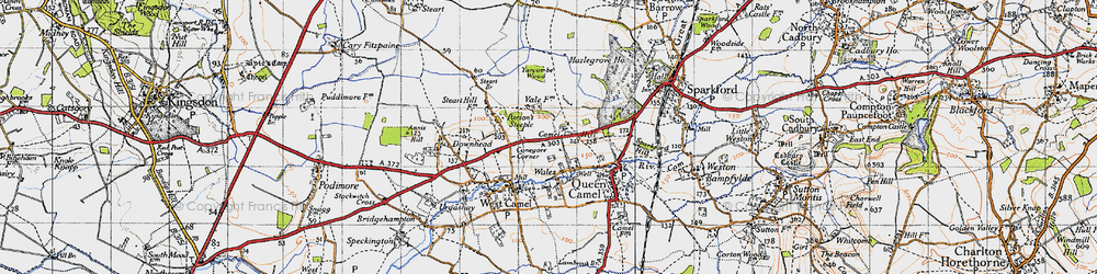 Old map of Yarcombe Wood in 1945