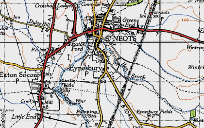 Old map of Wintringham Hall in 1946