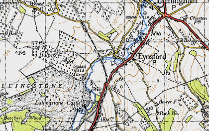 Old map of Eynsford in 1946