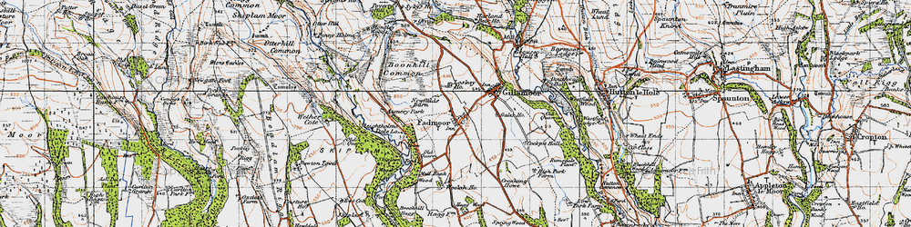 Old map of Woolah in 1947