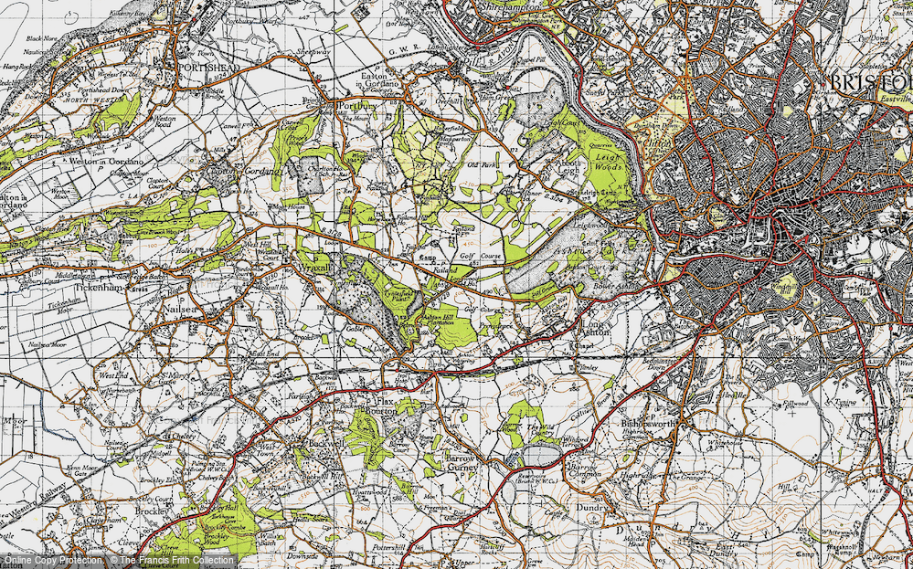 Old Map of Historic Map covering Ashton Hill Plantn in 1946