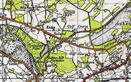 Old map of Ashton Hill Plantn in 1946