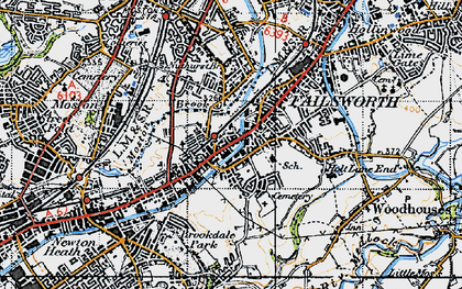 Old map of Failsworth in 1947
