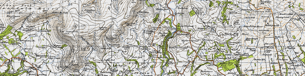 Old map of Whitmore in 1947