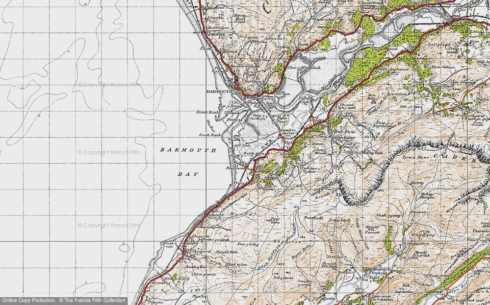 Old Map of Fairbourne, 1947 in 1947