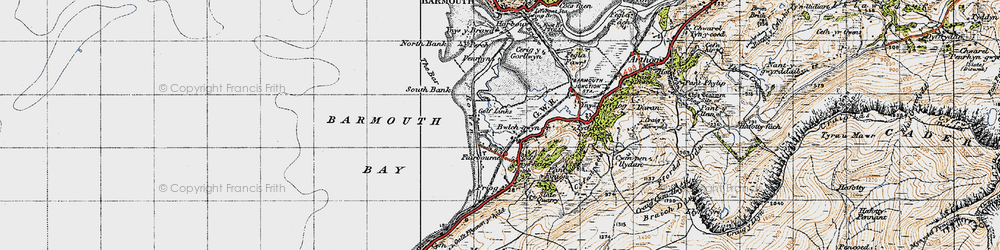 Old map of Fairbourne in 1947