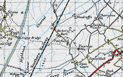 Old map of White Kemp Sewer in 1940