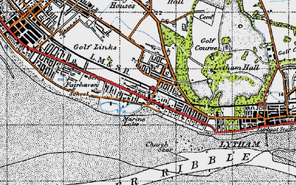 Old map of Fairhaven in 1947