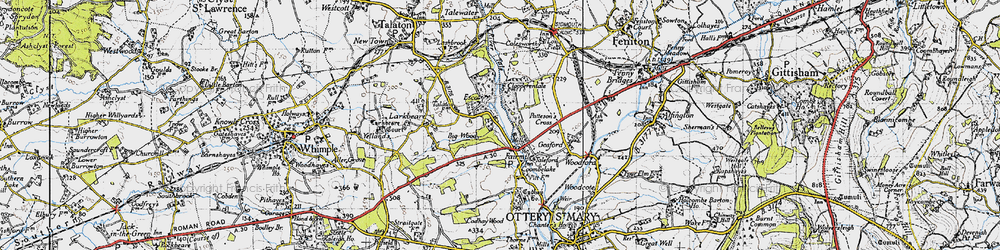 Old map of Fairmile in 1946