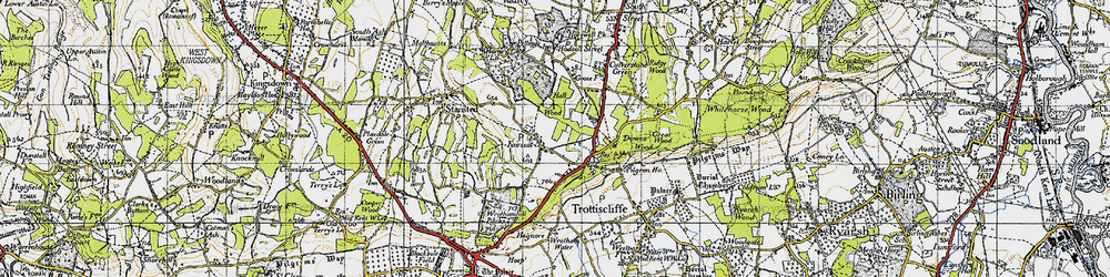 Old map of Wrotham Hill Park in 1946