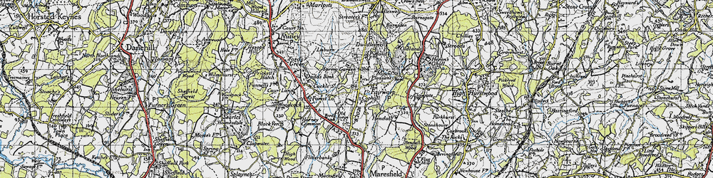 Old map of Fairwarp in 1940