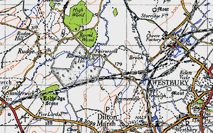 Old map of Fairwood in 1946