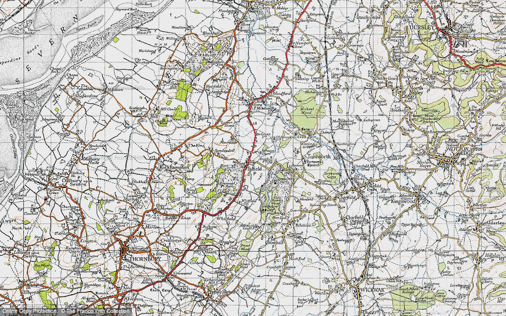 Old Map of Falfield, 1946 in 1946