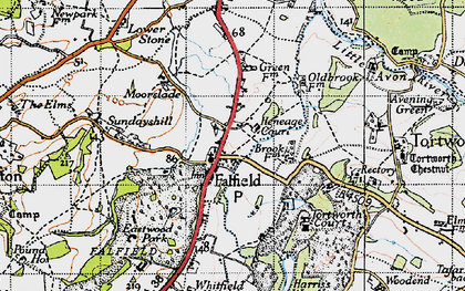 Old map of Falfield in 1946