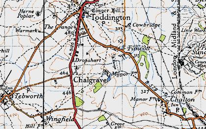 Old map of Fancott in 1946