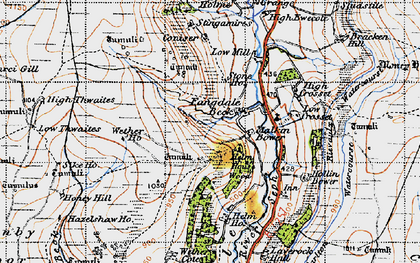 Old map of Wetherhouse Moor in 1947