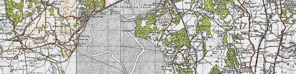 Old map of White Creek in 1947