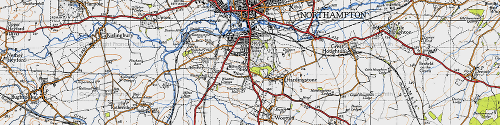 Old map of Wootton Hall in 1946