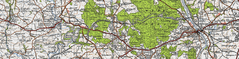 Old map of Lem Brook in 1947