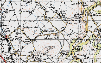 Old map of Ashmead Ho in 1946