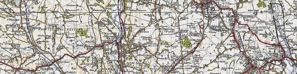 Old map of Whitemoor Hall in 1946