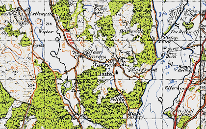 Old map of Far Sawrey in 1947