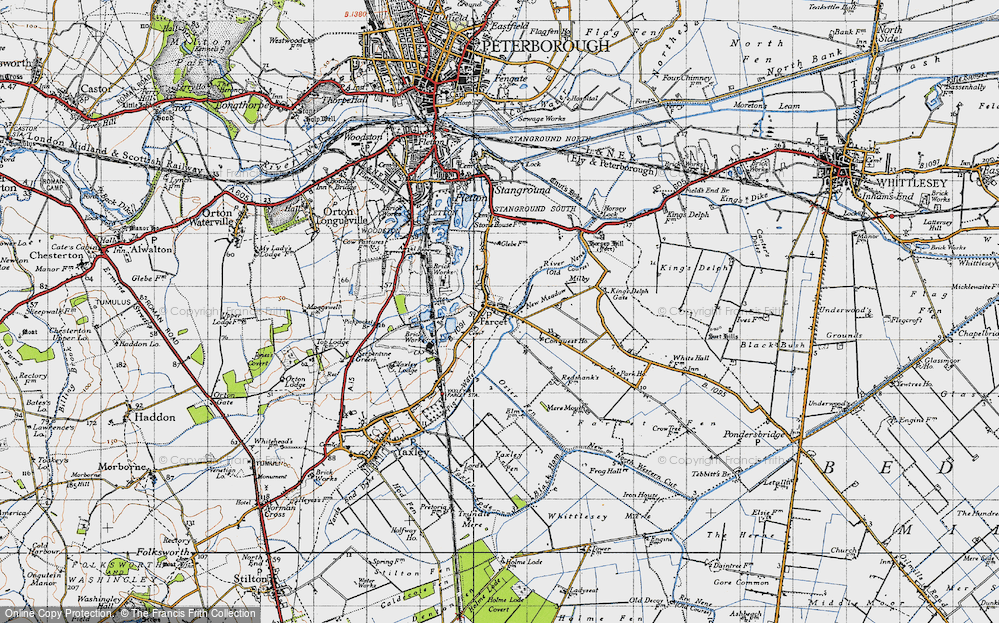 Old Map of Farcet, 1946 in 1946