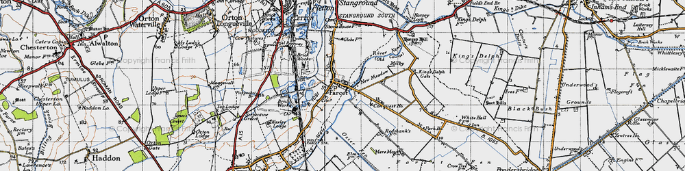 Old map of Farcet in 1946