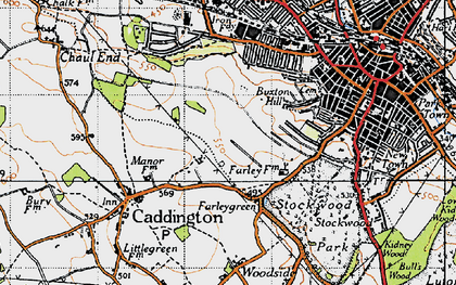 Old map of Farley Hill in 1946