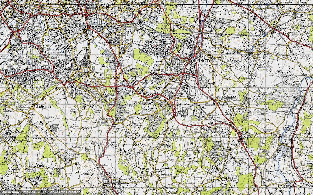 Old Map of Farnborough, 1946 in 1946