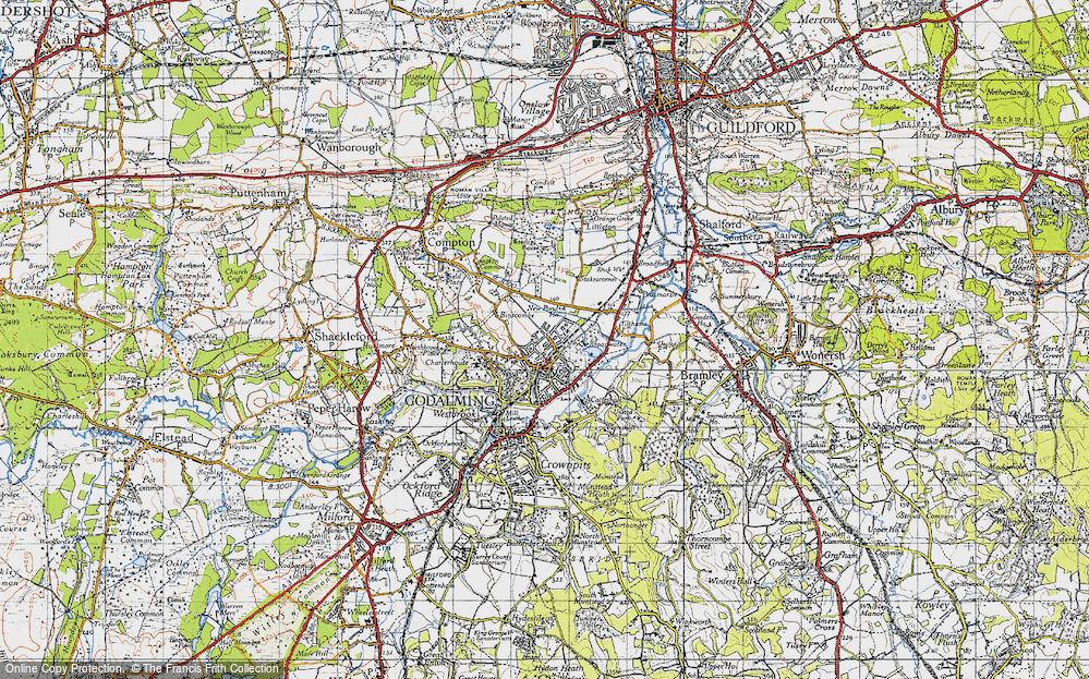 Old Map of Farncombe, 1940 in 1940