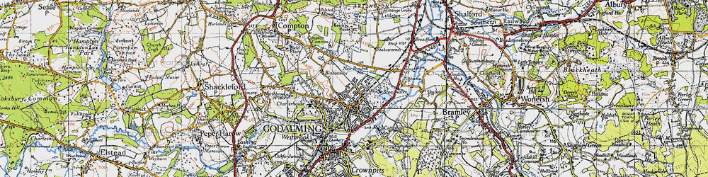 Old map of Farncombe in 1940