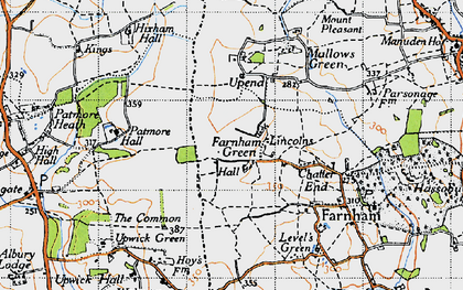 Old map of Lincolns in 1946
