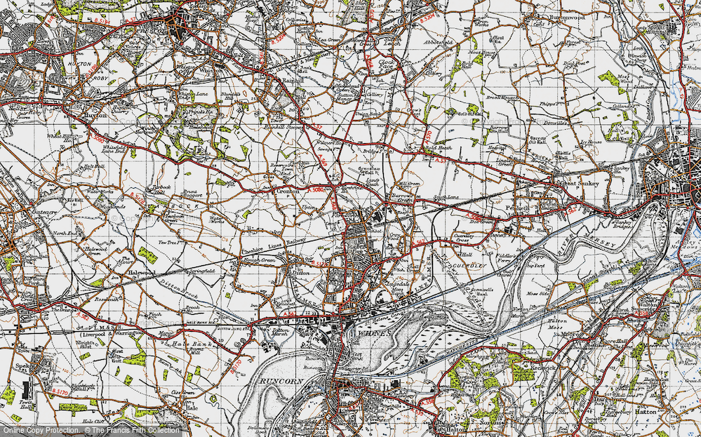 Old Map of Farnworth, 1947 in 1947