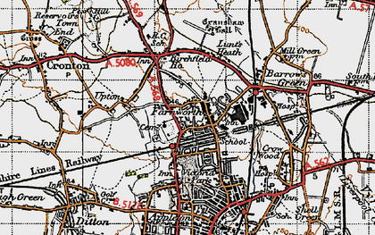Old map of Farnworth in 1947