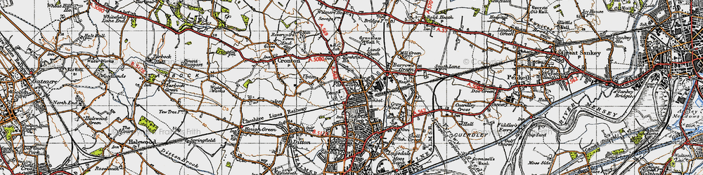 Old map of Widnes Sta in 1947