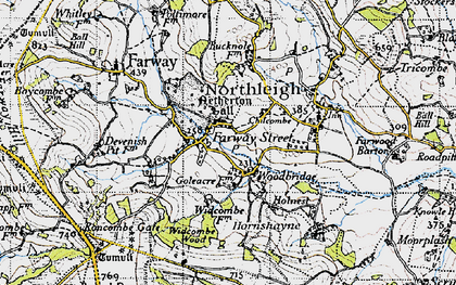 Old map of Widcombe Wood in 1946