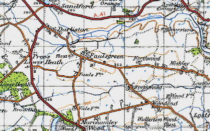 Old map of Ashford Grange in 1947