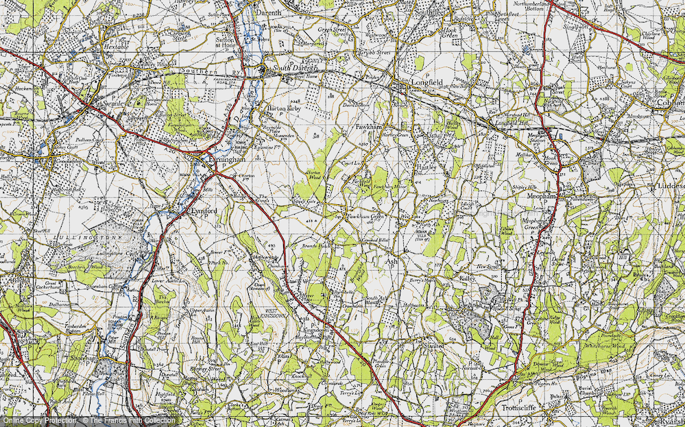 Old Map of Fawkham Green, 1946 in 1946