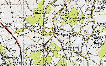 Old map of Fawkham Green in 1946