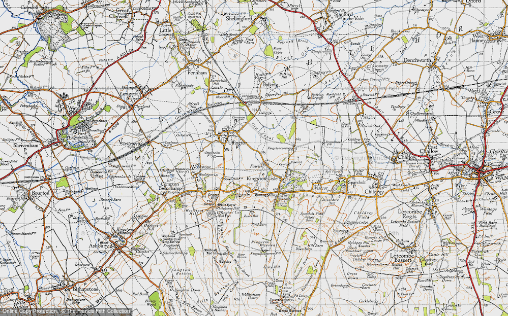 Old Map of Fawler, 1947 in 1947